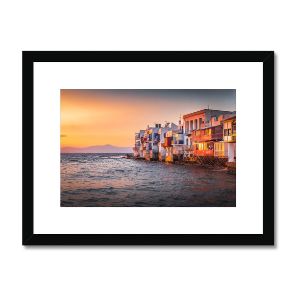 Mediterranean Rhapsody! - Mykonos, Greece Framed & Mounted Print - Sydspicsprints