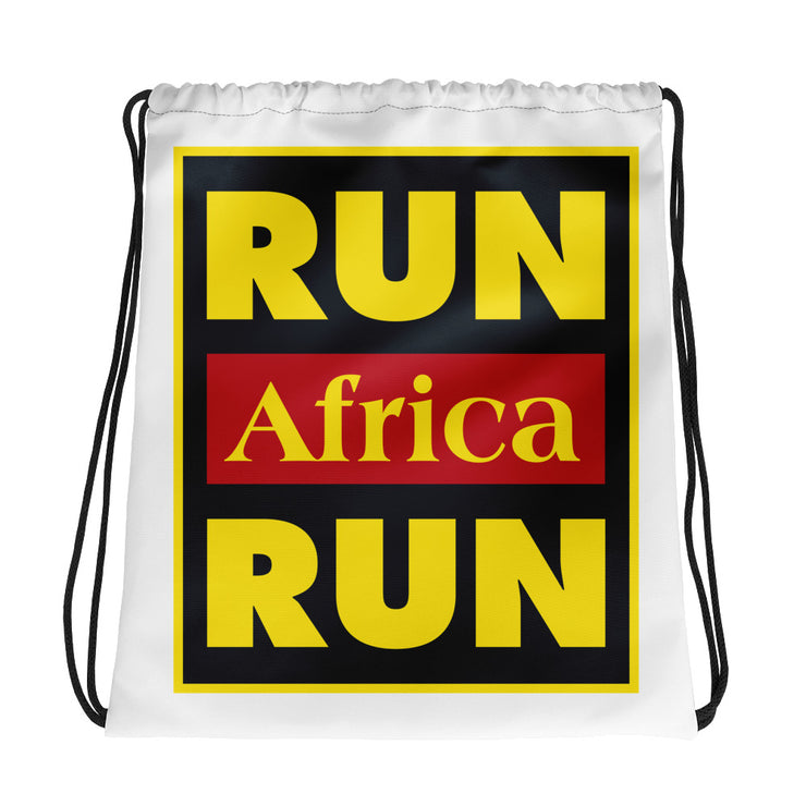 Run Africa Run Drawstring bag