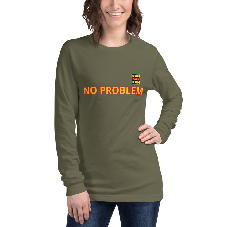 No Problem Africa Unisex Long Sleeve Tee