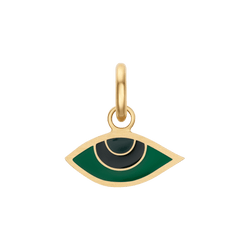 Green Enamel Evil Eye Charm