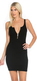 Black Zip Tank Ribbed Dress - Emprada