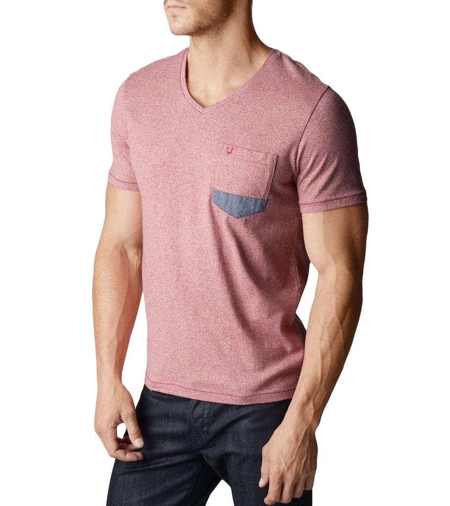 Pocket VNeck Mens T-Shirt - Emprada