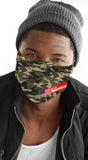 Camo Print Green Men's Reusable Face Mask