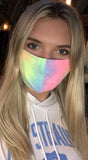 Pink Neon Yellow Multi Color Tie Dye Reusable Mask