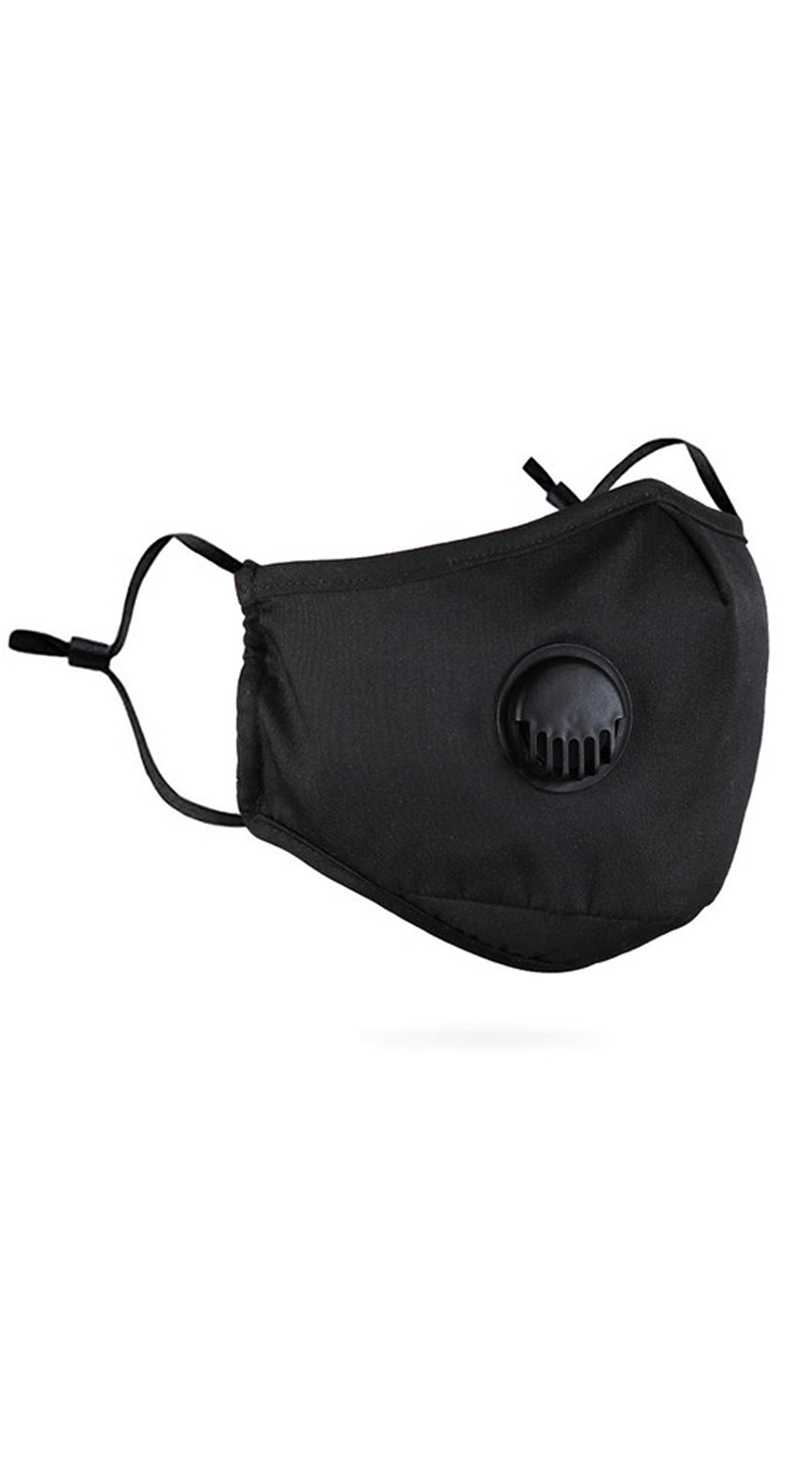 Respiratory Valve Activated Carbon Black Face Polyester Mask