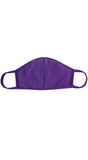 Purple Solid Reusable Face Mask