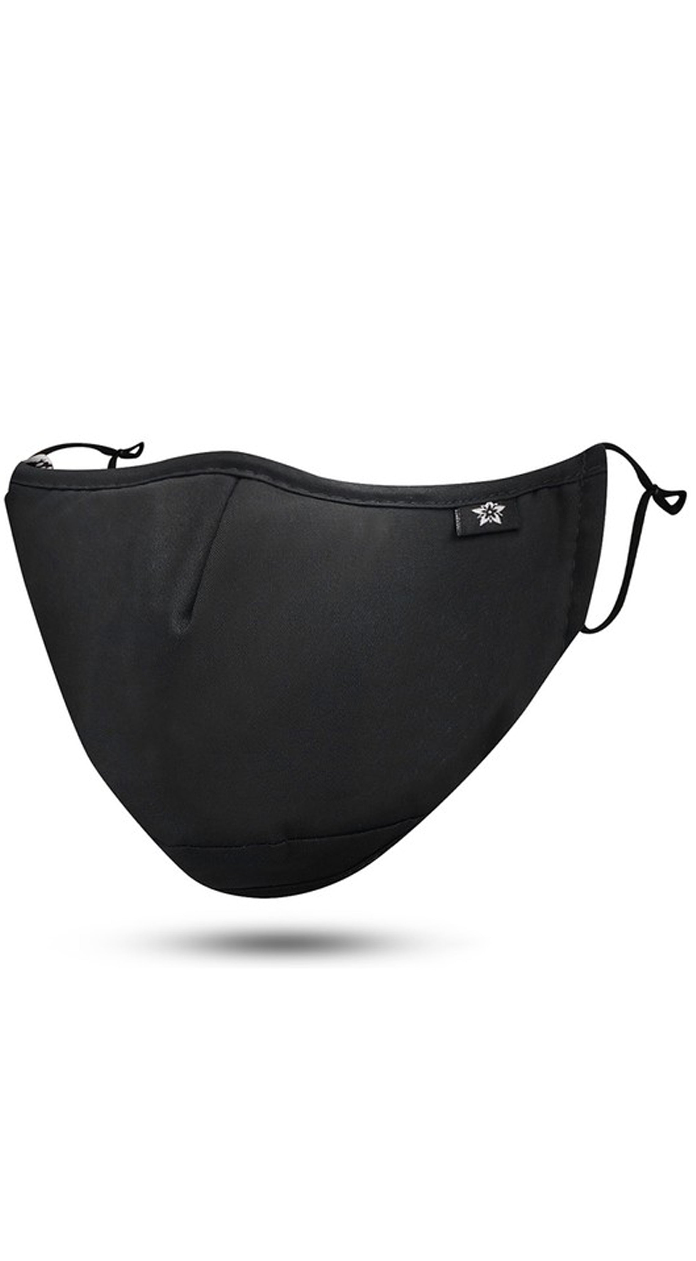 Black Adjustable Reusable Face Mask
