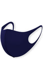 Navy Solid Aerosilver Anti-bacterial Reusable Face Mask