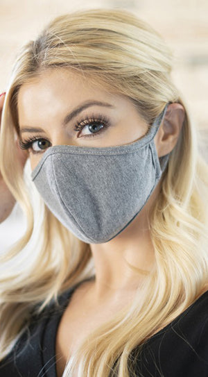 Grey Solid Reusable Face Mask