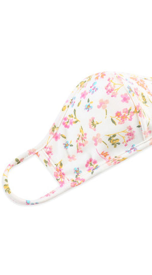 Floral Ivory Pink Reusable Face Mask