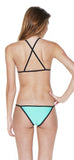 Turquoise Triangle Cross Back Bikini - Emprada