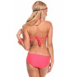 Coral Multi String Push Up Bikini - Emprada