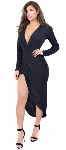 Jemma Black Deep Plunge Wrap Dress