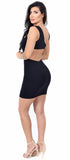 Trina Black Cut Out Dress - Emprada