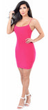 July Fuchsia Spaghetti Strap Mini Dress - Emprada