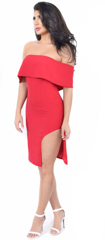 Marcela Red Off Shoulder Dress