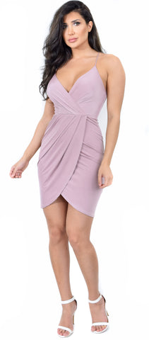 Priya Mauve Wrap Dress