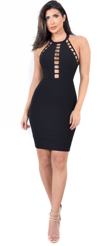 Nicki High Neck Cut Out Dress