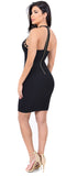 Nicki High Neck Cut Out Dress - Emprada