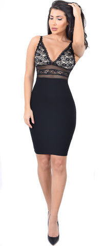 Vivica Black Lace Detailed Dress