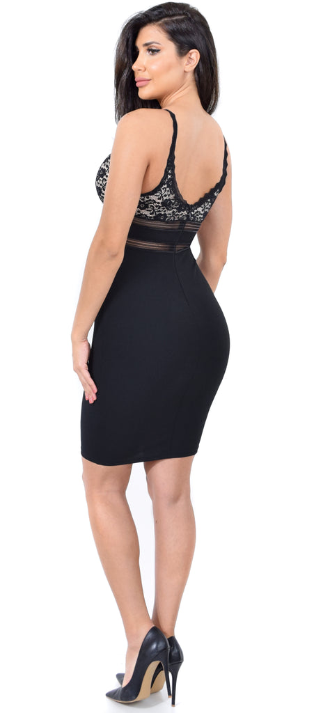 Vivica Black Lace Detailed Dress - Emprada