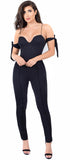 Janessa Black Arm Tie Jumpsuit - Emprada