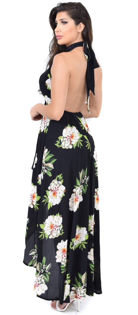 Rosemary High Low Floral Maxi Dress - Emprada
