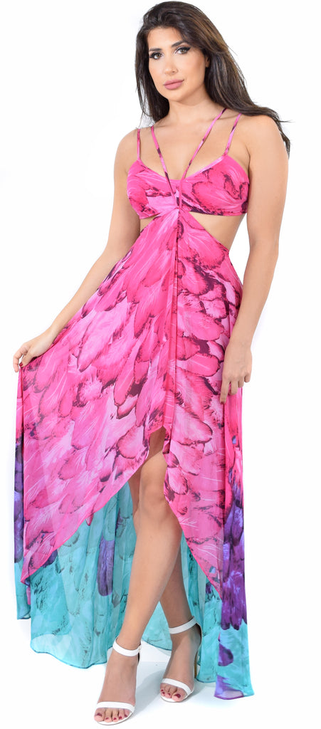 Paradise Dream Fuchsia Maxi Dress