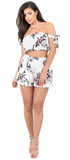 Zoey Cream Floral Arm Tie Set