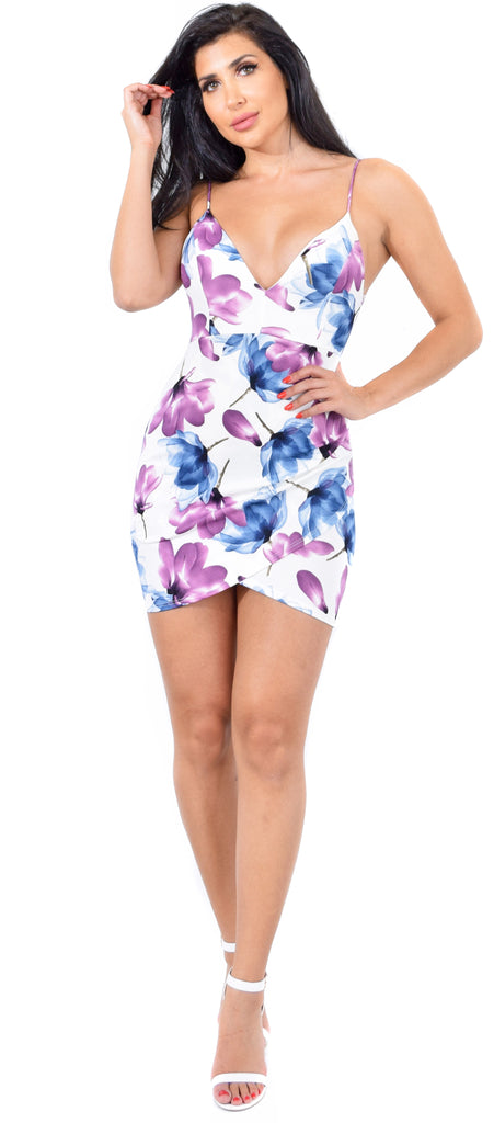 Alisha Ivory Floral Dress - Emprada