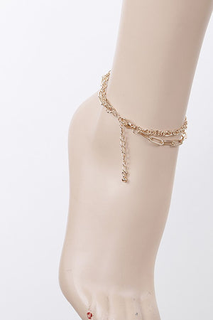 Gold Double Chain Anklet