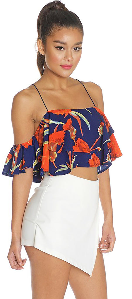 Cypress Navy Floral Top - Emprada