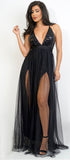 Julene Sequin Mesh Maxi Dress - Emprada