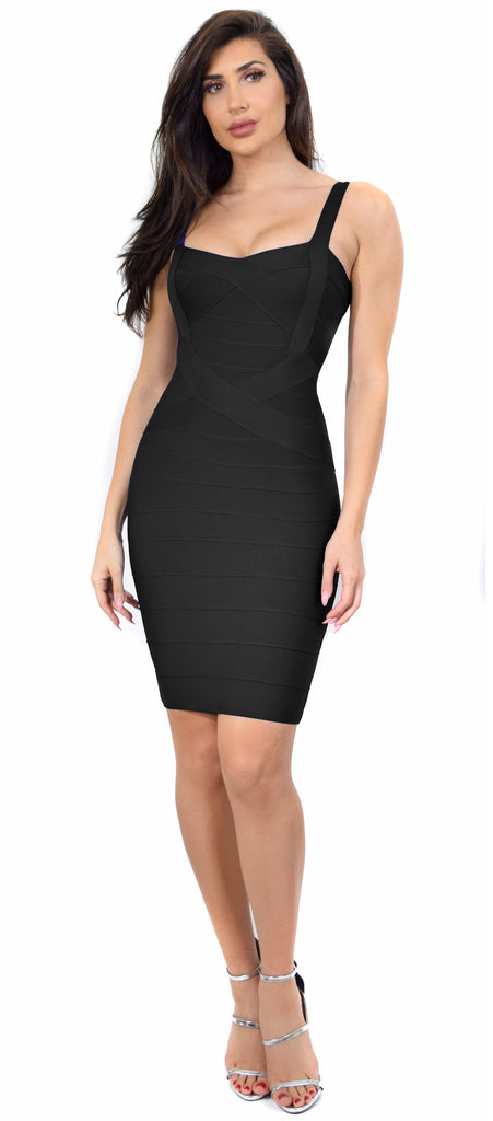 25c20931af Cynthia Black Bandage Dress - Emprada