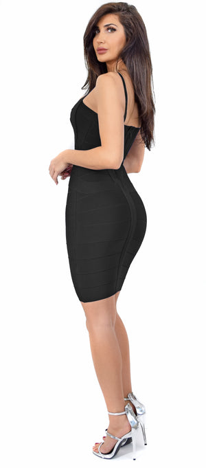 Cynthia Black Bandage Dress - Emprada