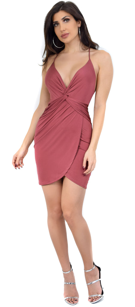 Della Rose Front Twist Wrap Dress