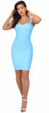 Cynthia Light Blue Bandage Dress - Emprada