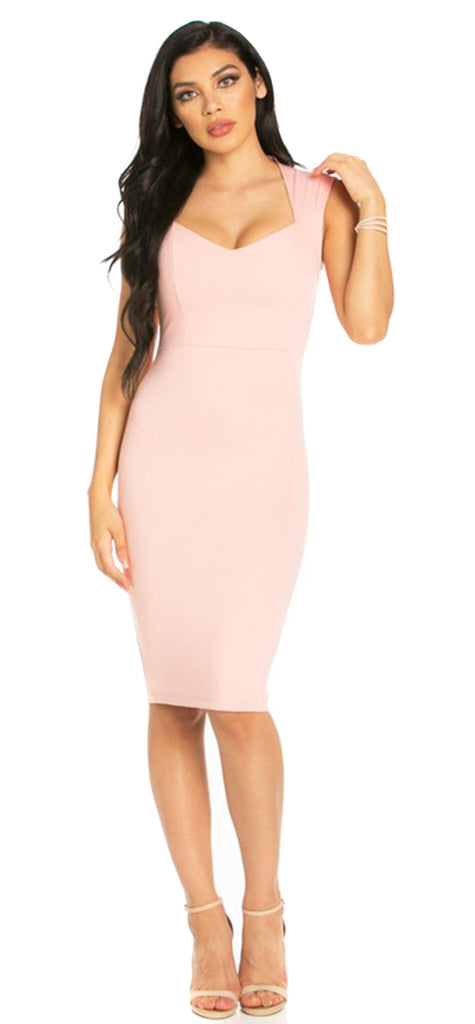 875d853a22 Heidi Blush Midi Dress - Emprada