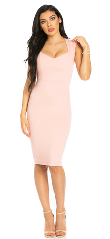 Heidi Blush Midi Dress - Emprada