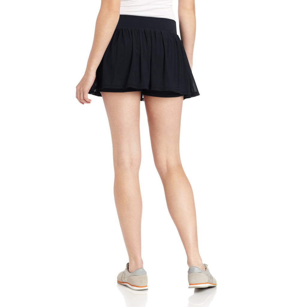 Women's Black Love Game Tennis Skirt - Emprada
