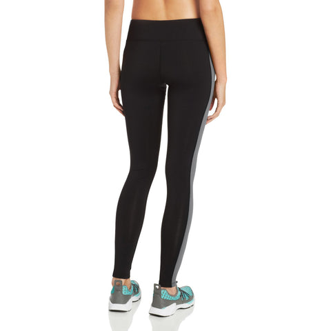 Women's Black/Charcoal Body Hug Training Pant - Emprada