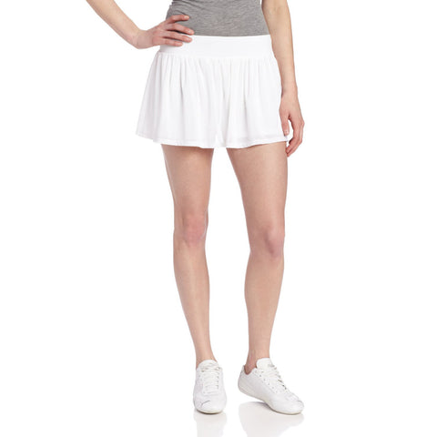 Women's White Love Game Tennis Skirt - Emprada