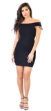 Black Off Shoulder Tie Up Dress - Emprada