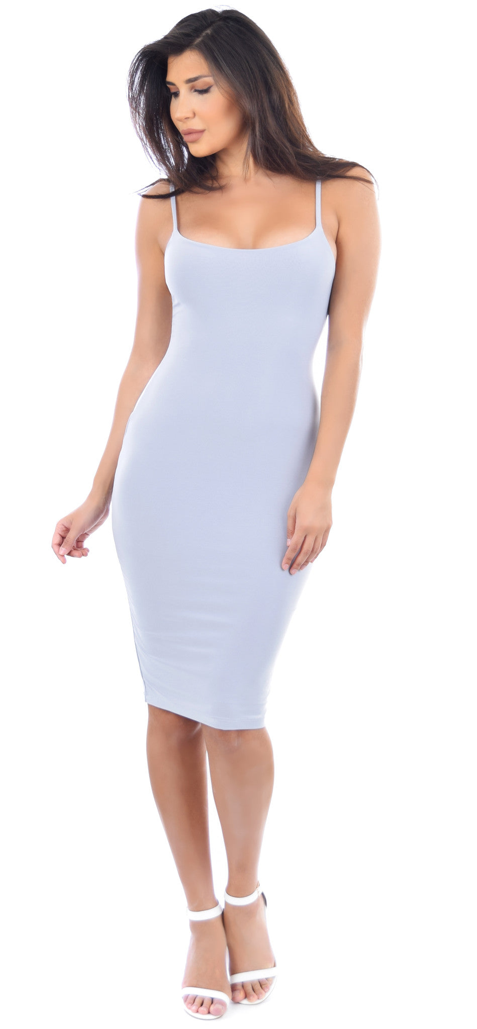 Deanna Grey Midi Dress - Emprada