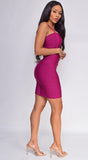 Cynthia Plum Purple Bandage Dress