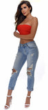 Shia Midrise Relaxed Distressed Skinny Crop Jeans