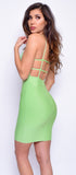 Vidette Green Bandage Dress