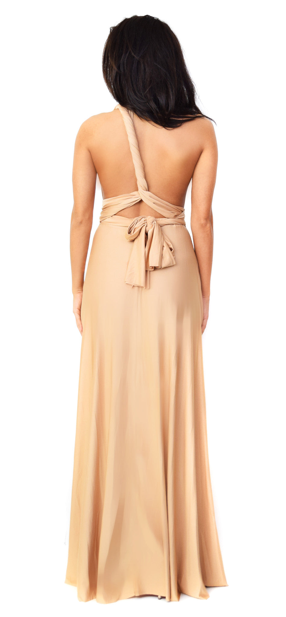 Geneva Multiway Nude Maxi Dress - Emprada