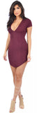 Jana Burgundy Faux Suede Dress - Emprada