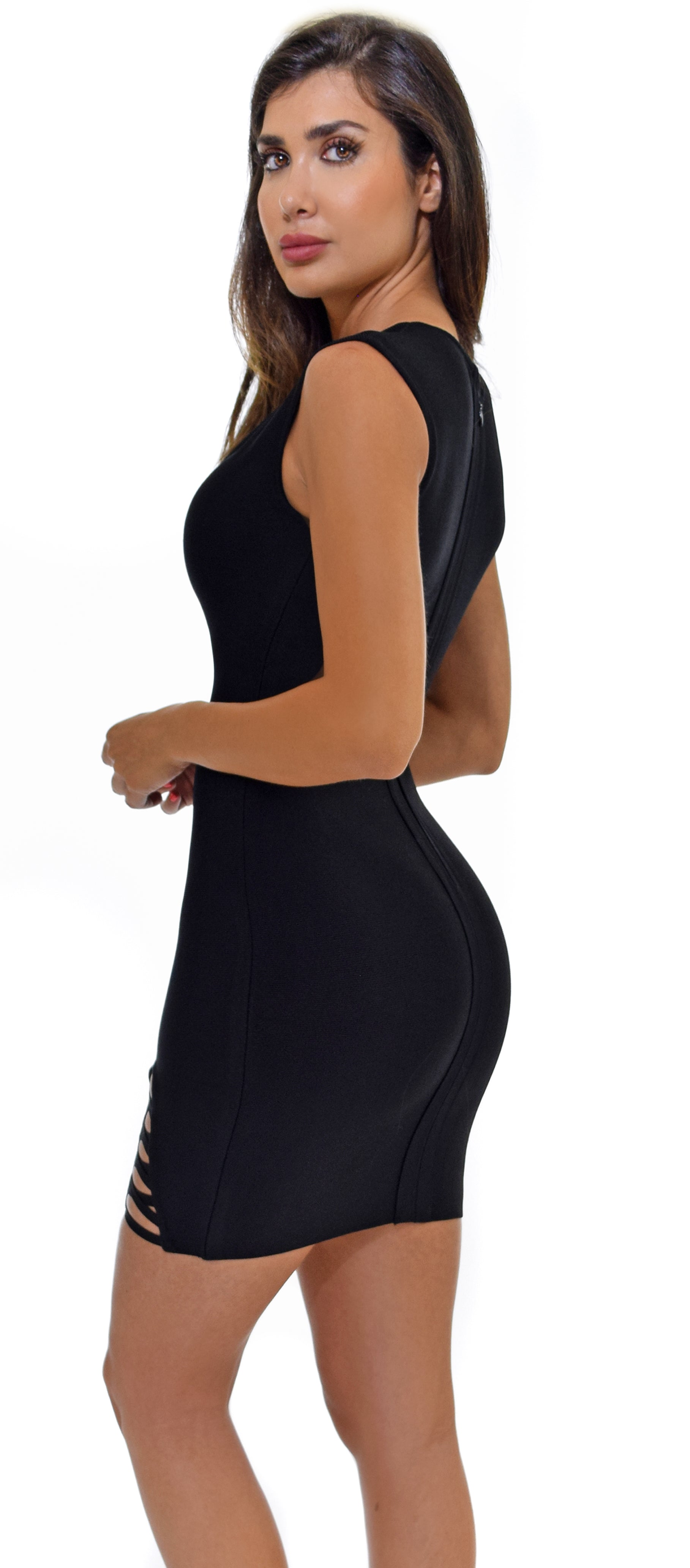 Chiara Black Bandage Dress - Emprada